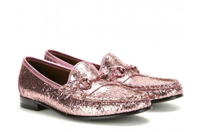 Gucci Glitter Horse Bit Loafers