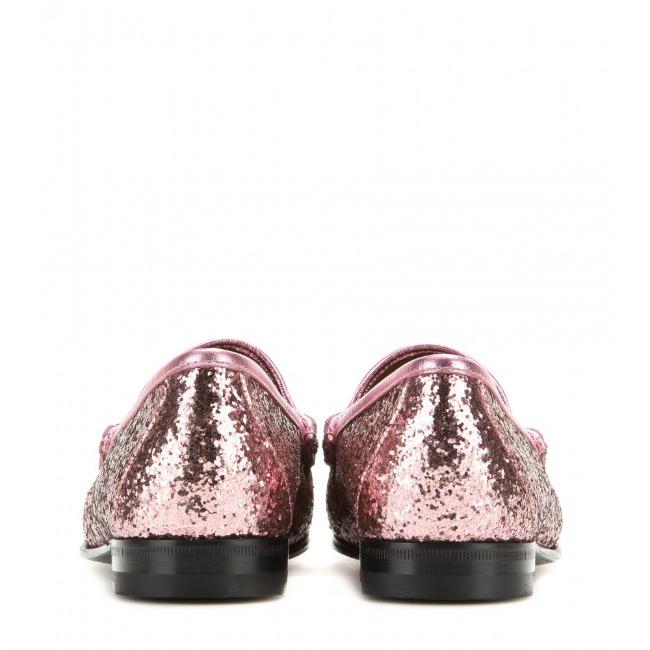 8db561d094a Gucci Glitter Horse Bit Loafers