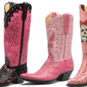 3 Pairs of Pink Cowboy Boots