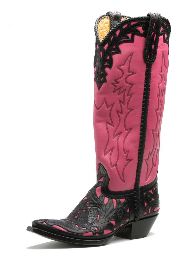 Handmade Hot Pink Cowboy Boots from Liberty Boot Co