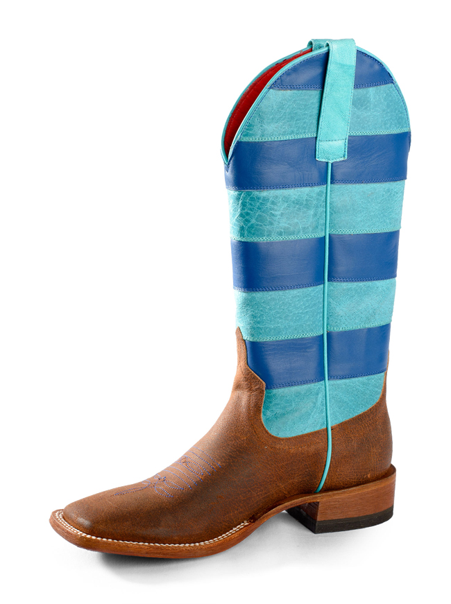 Macie Bean Blue Striped Boots