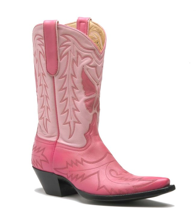 Pink Roxy Handmade Cowboy Boots from Liberty Boot Co