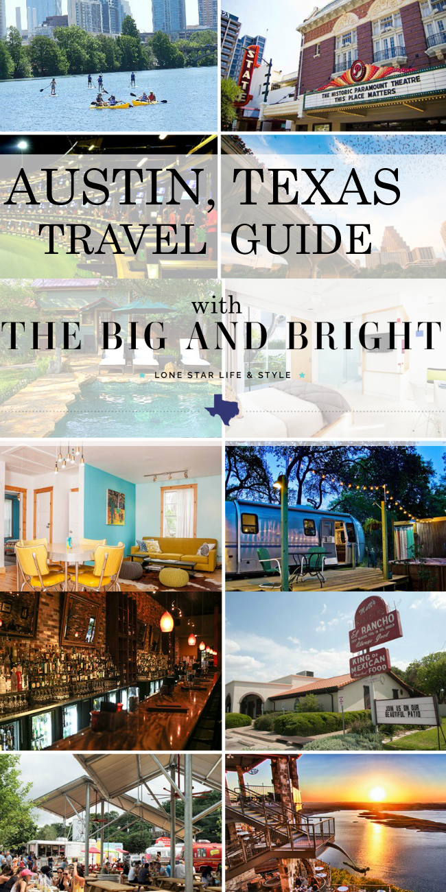 Austin, Texas Travel Guide with The Big and Bright on Horses & Heels