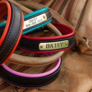Colorful Leather Dog Collars by daisy1010