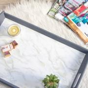 DIY Faux Marble IKEA Tray