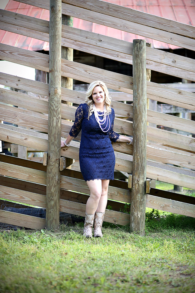 Lacy Dress and Boots from Classy CrossRoads