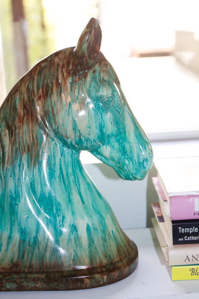Turquoise Horse Head Bookend | Horses & Heels