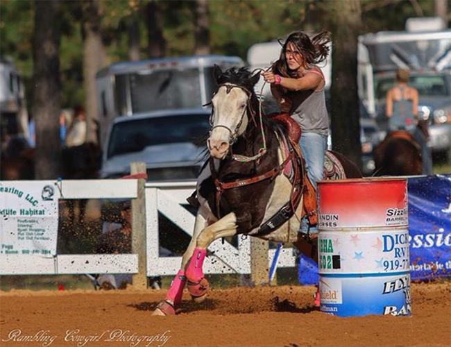Ashley and Rumor Barrel Racing