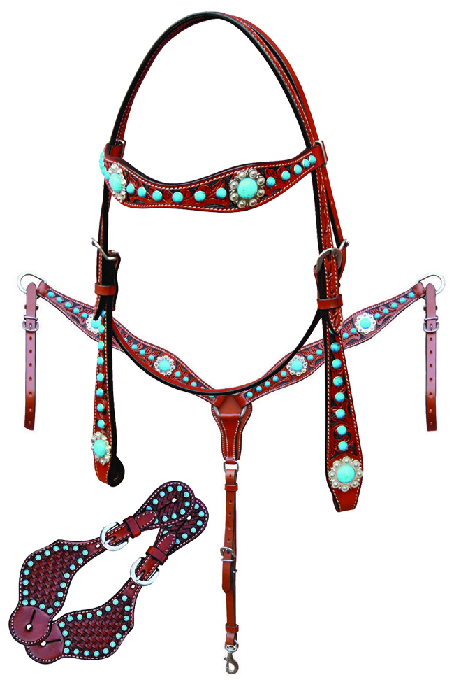 Bar H Equine Turquoise Beaded Collection