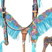 Bar H Equine Turquoise Fringe Tack