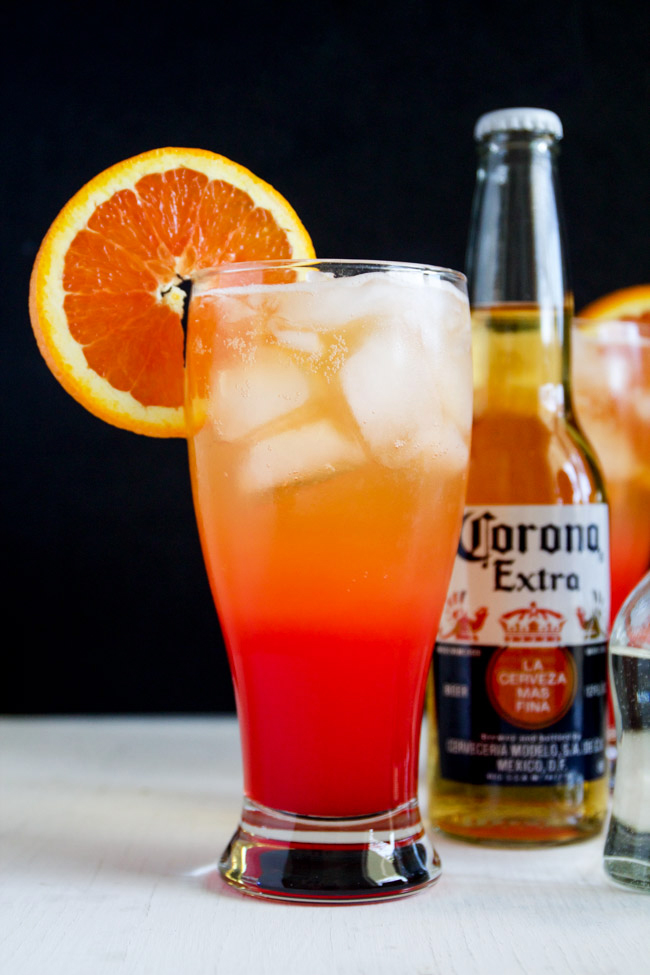 Corona sunrise cocktails horses heels for Drinks you can make with tequila