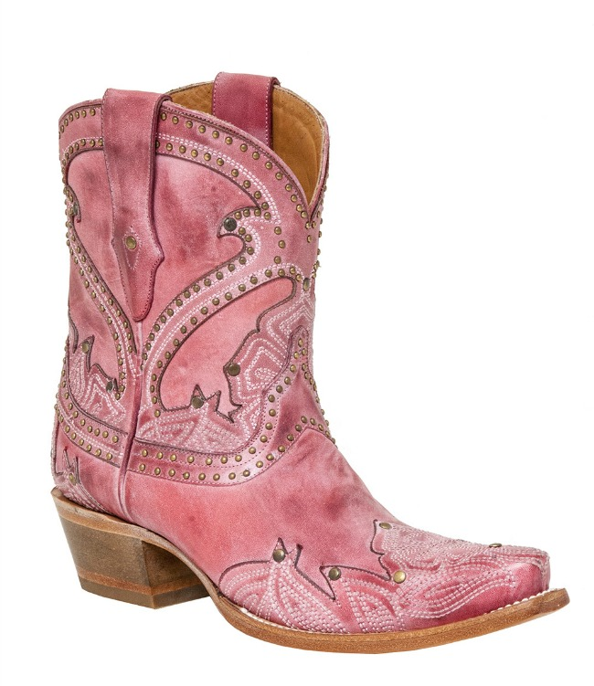 Lucchese 1883 Sarabeth Pink Shorty Cowboy Boots