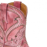 Lucchese Sarabeth Pink Shorty Cowboy Boots
