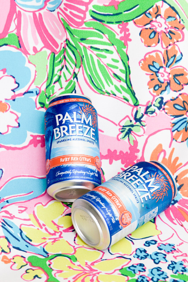 Palm Breeze Ruby Red Citrus Cocktail on a Lilly Pulitzer Chair