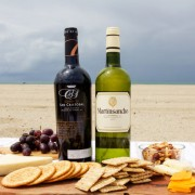 Cheese and Wine Beach Spread