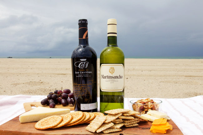 Wine and Cheese at the Beach