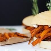 Chipotle and Rosemary Sweet Potato Burgers | Horses & Heels