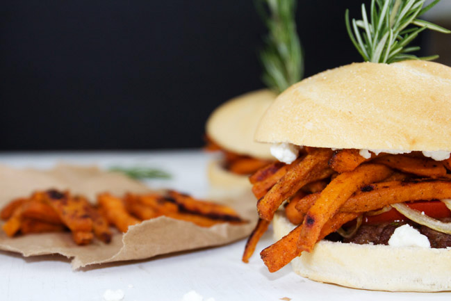 Chipotle and Rosemary Sweet Potato Burgers