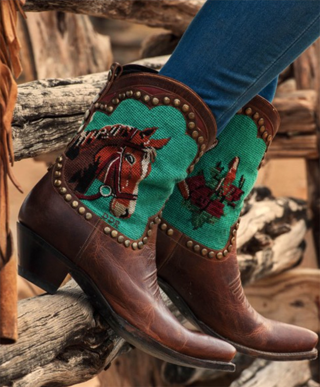 Double D Ranch Shadowflax Cowboy Boots