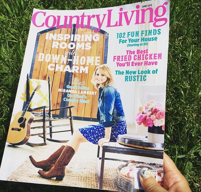 Country Living Magazine with Miranda
