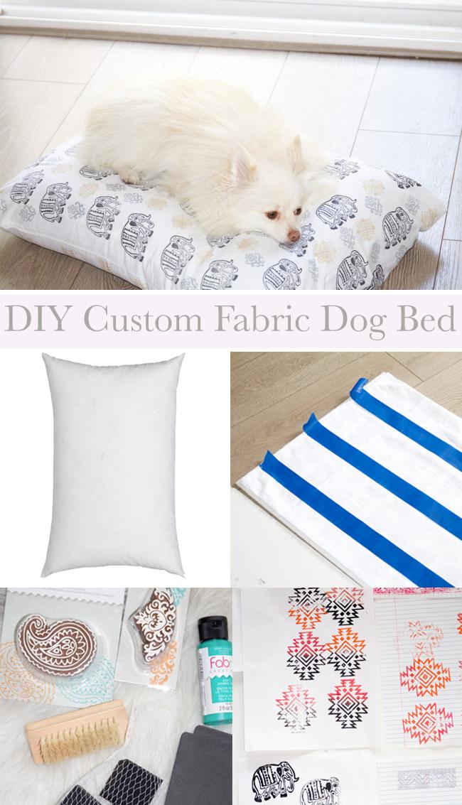 DIY Custom Fabric Dog Bed | Horses & Heels