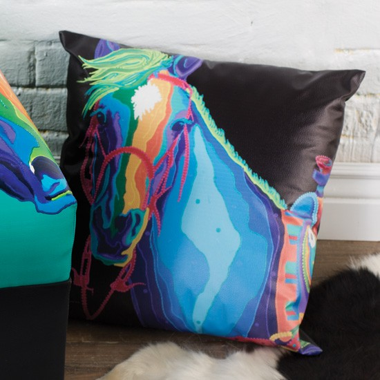 Dream Horse Faux Leather Pillow