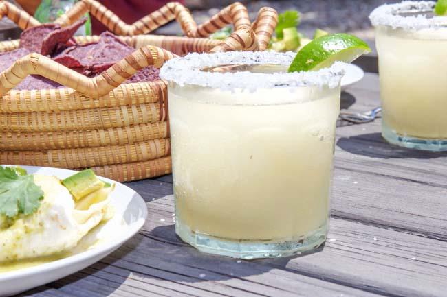 Frozen Margarita with Salt