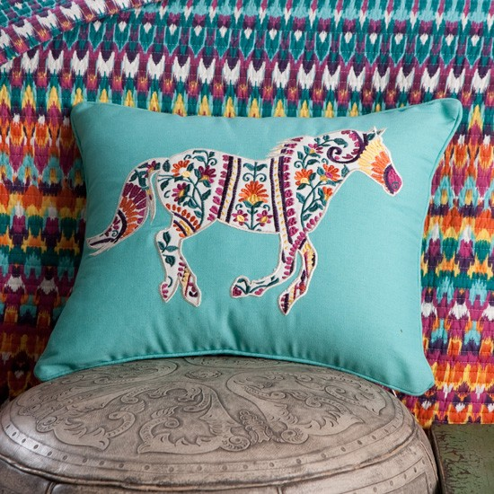Running Horse Toss Pillow