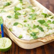 Spicy Chicken Enchiladas with Verde Enchilada Sauce