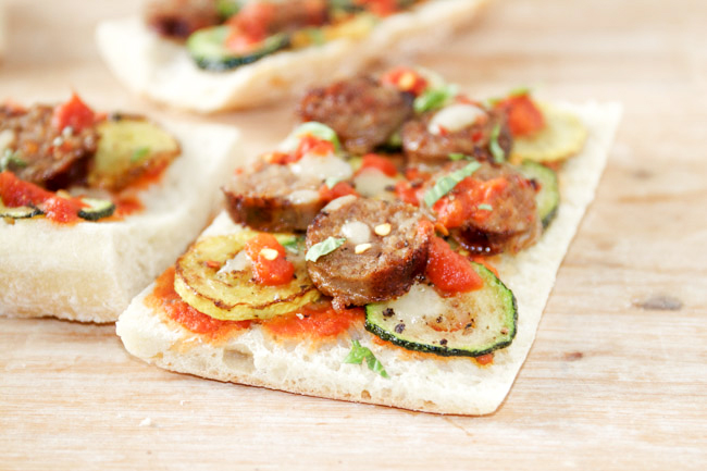 Sausage and Summer Squash Flatbread