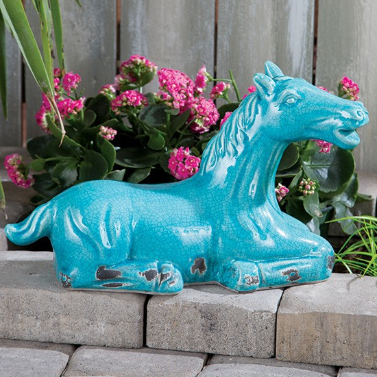 Turquoise Horse Statue