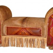 Custom Leather Bench from Rustic Artistry