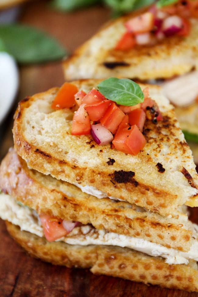 Grilled Bruschetta Chicken Sandwiches, a perfect summer meal