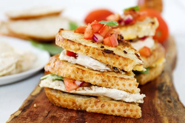 Grilled Bruschetta Chicken Sandwiches