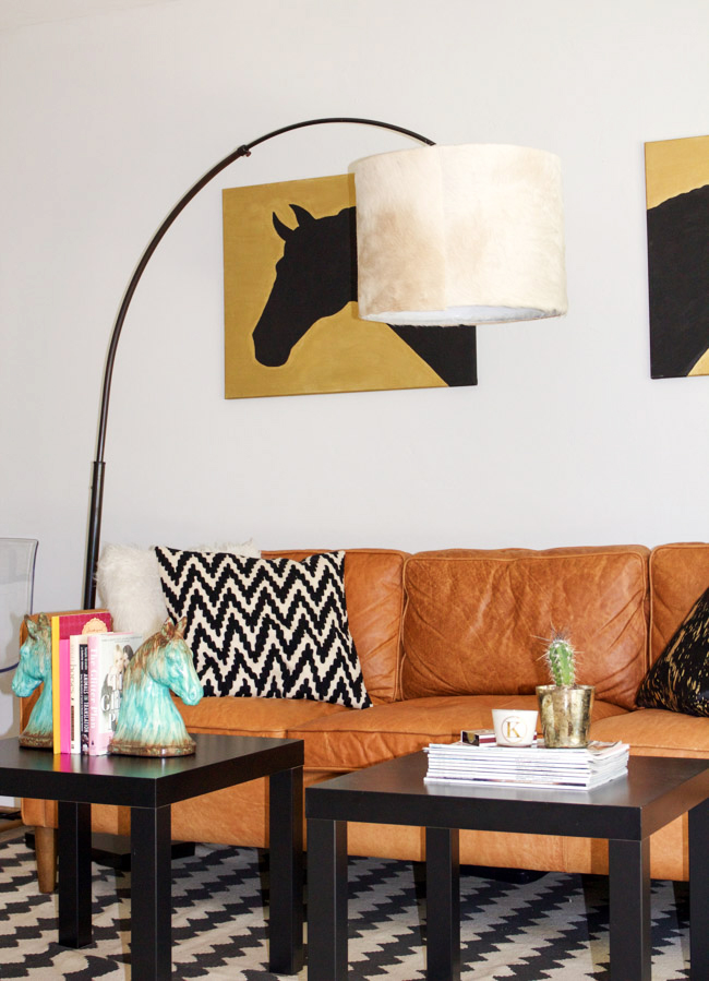 Modern equestrian living room and space