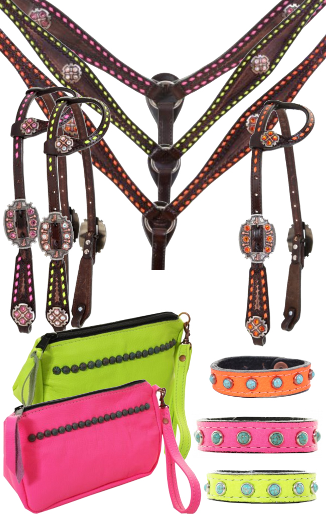 Neon Tack for the Horse and Neon Accessories for the Rider