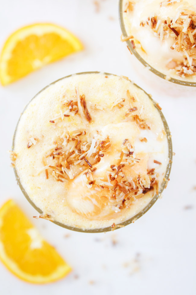 Toasted Coconut Malibu Sherbert Float