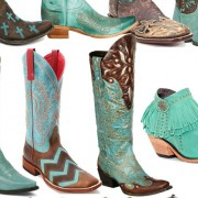 12 Pairs of Turquoise Cowboy Boots | Horses & Heels