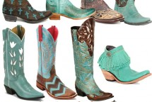 12 Pairs of Turquoise Cowboy Boots   Horses & Heels