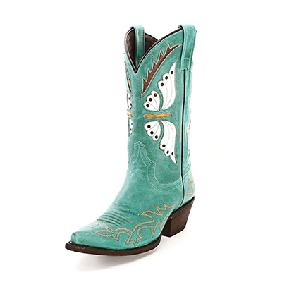 Caborca Mulan Turquoise Cowgirl Boots