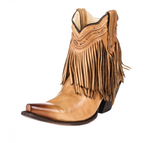 Corral Antique Saddle Fringe Boots