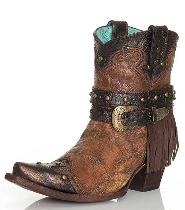 Corral Metallic Fringe Boots