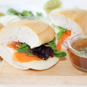 Summer Turkey Sandwich with a Dill Spread and Vegetable Pho