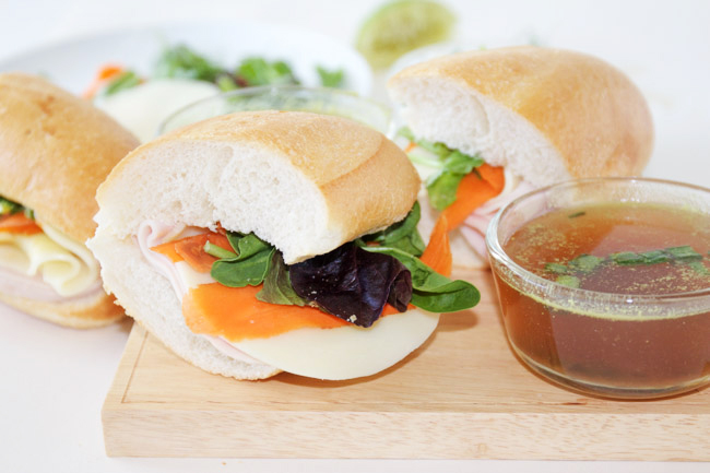 Summer Turkey Sandwiches with Vegetable Pho