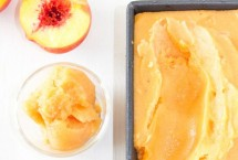 Fresh Fruity Peach Sorbet with a Hint of Cantaloupe
