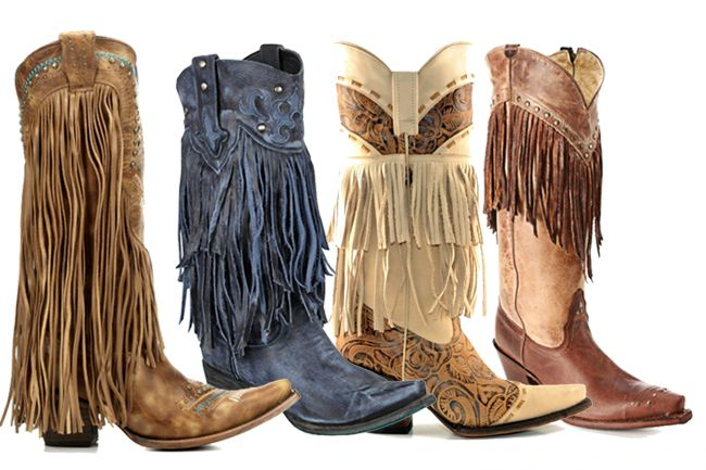 12 Pairs of Fringe Cowboy Boots
