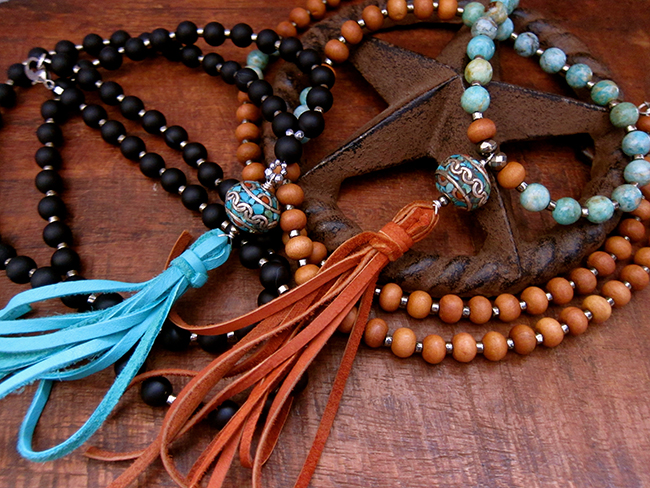 Necklaces from Breathe Deep Designs