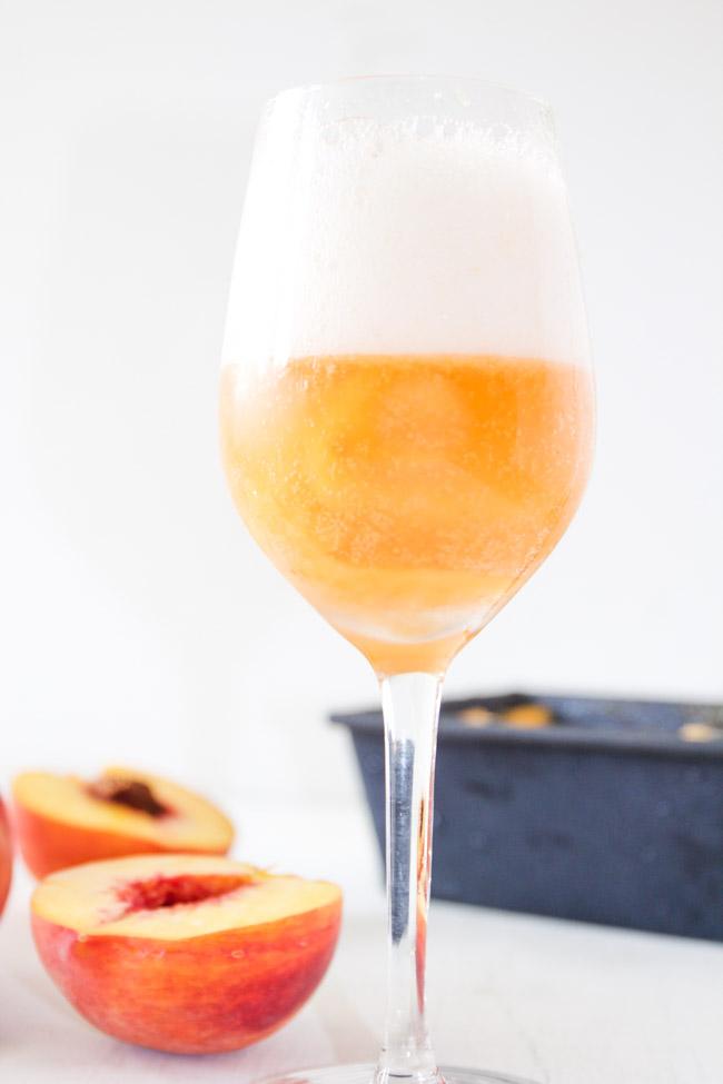 Sparkling Peach Sorbet Float