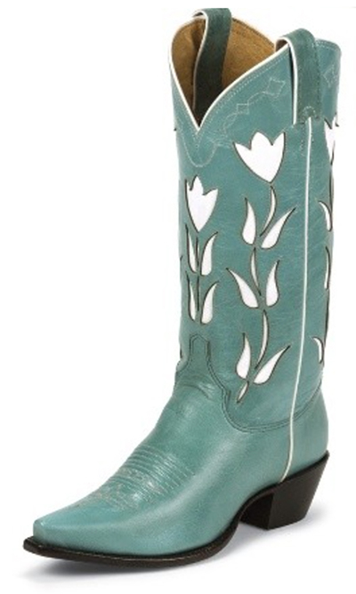 Vintage Goat Turquoise Justin Boots