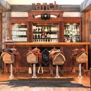 Western saddle bar stools